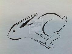 Bunny Tattoo (Happy easter version x3) by ~Lillyth-Kitten on deviantART