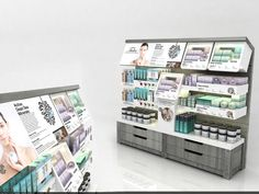 Cosmetics tester stand