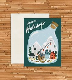 Village Terrarium Holiday Cards, Set of 8 by Idlewild Co. on Scoutmob