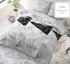 Sivo ružové posteľné obliečky s moderným vzorom 140 x 200 cm - domtextilu. Marble Art, Comforters, Duvet Covers, Nova, Throw Pillows, Blanket, Pink, Colors, Creature Comforts