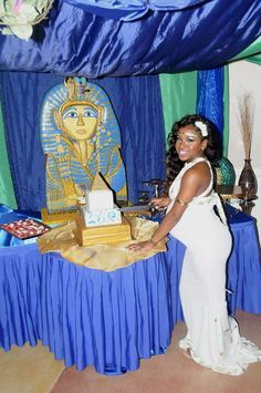 Egyptian Baby Shower | CatchMyParty.com