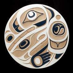 Raven Transforming Panel  Kyran Yeomans  Haida Nation