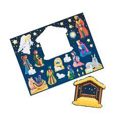 Magnetic Nativity Scene - OrientalTrading.com