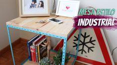 DIY - Como fazer uma mesa lateral estilo industrial para a sala