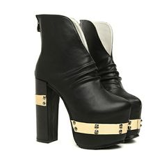 Black Metal Ankle Boots