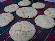 Cake mix cookies! Substitute with any cake mix flavor!