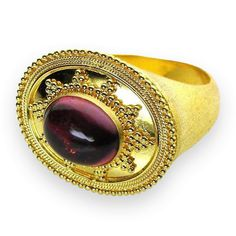 Broad Face Tourmaline Ring