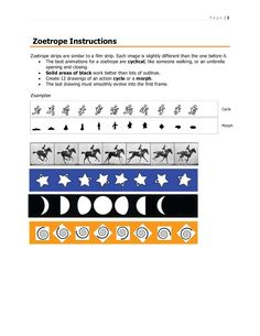 Zoetrope Instructions
