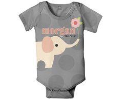 Personalized Baby Onesie Elephant Polka Dot by SimplySublimeBaby, $24.95