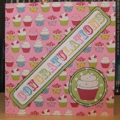 Cupcake Stitched Congratulations Card by Stuff N Nonsense