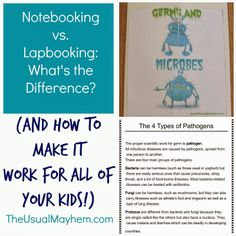 The difference between notebooking and lapbooking, and how to make it work for you.  {The Usual Mayhem}