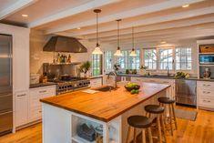 Shingled beach cottage in Martha's Vineyard with modern elements