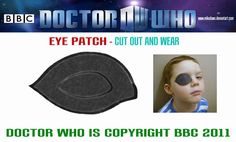 Eye patch, print out a heap and people can wear one