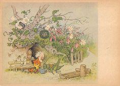 Alte AK col. Künstlerkarte Fritz Baumgarten / Zwerge füttern eine Grille | eBay
