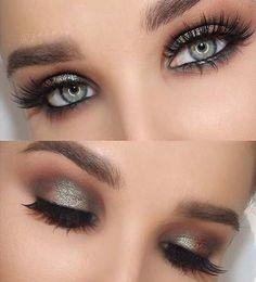 Teal Green Smokey Eye Look for Blue Eyes