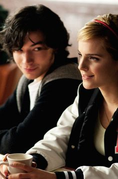 Ezra Miller and Emma Watson in Perks of Being a Wallflower (2012)