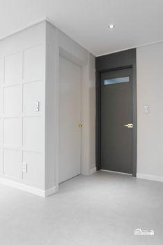 대전 방문 교체 홈데코 ABS 도어 여닫이문 타공 화장실문 욕실 도어 시공 설치 : 네이버 블로그 Tall Cabinet Storage, Locker Storage, Black Doors, Color Schemes, New Homes, Interior Design, Bedroom, House, Furniture