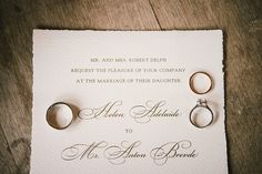 Invitations with the rings