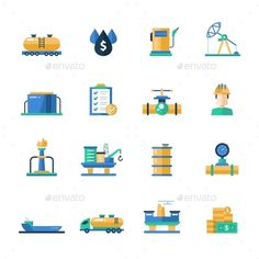 Buy Oil and Gas Industry Modern Flat Design Icons by BoykoPictures on GraphicRiver. Set of modern vector oil industry flat design icons and pictograms. Collection of oil and gas industry infographics o. Flat Design Icons, Icon Design, Flat Icons, Vector Design, Logo Design, Graphic Design, Oil Company Logos, Oil Industry, Oil And Gas