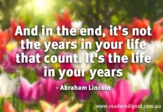 For more beautiful quotes on ageing visit http://www.readersdigest.com.au/5-quotes-on-ageing