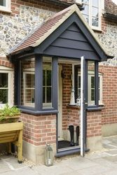 Front porch extension ideasFront porch extension Awesome Oak Front Door So Your House Looks Simple But Awesome Oak Front Door So Your House Looks Simple But Beautiful homedecorideas doordecorations homedesignonabudgetTHIS Is the Right Porch Uk, Front Door Porch, Cottage Porch, Front Porch Design, House With Porch, Door Entry, Porch Doors Uk, Side Porch, Porch Entry