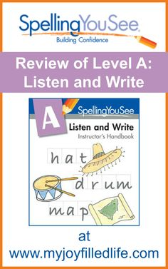 Spelling You See - Brand new spelling curriculum; review of Level A: Listen and Write