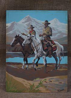 Vintage Cowboy / Western Paint by Number