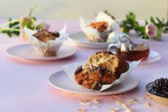 Raspberry, Pomegranate and Coconut Muffins - Maggie Beer