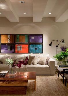 Ideias de decoração por Viviane Gobbato Quadros são sempre muito bem vindos nadecoração, trazem alegria e personalidade aos ambientes edãovida as parede