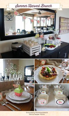 Celebration of Life Inspiration: Waffle Bar with Strawberry Mommy cakes.or whatever your loved one favoured. Brunch Bar, Brunch Decor, Sweet Table Decorations, Brunch Recipes, Breakfast Recipes, Waffle Bar, Party Entertainment, Holiday Parties, Party Planning