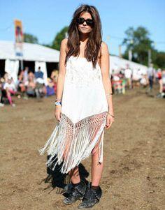 Fringe dress at #Glastonbury