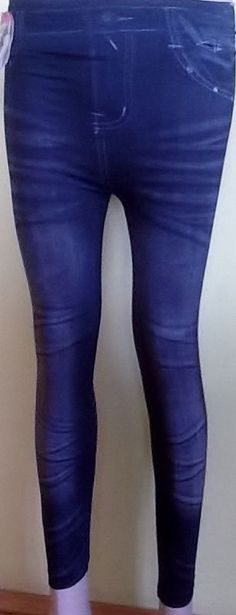 Jeans Optik Damen Leggings Hose Jeggings Treggings Leggins Strech lang GR.36-44