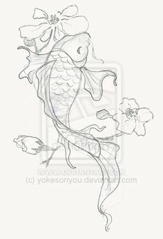 Japanese Koi Fish Drawings | koi fish by ~yokesonyou on deviantART