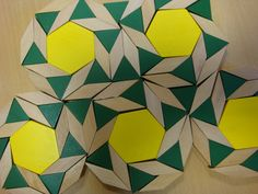 Pattern Block Tessellations - hexagons, triangles and diamonds