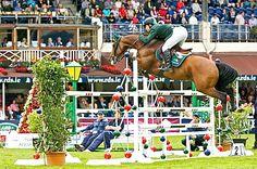 Cian O'Connor and Blue Loyd win Longines Grand Prix of Dublin… Jumpers, Knights, Grand Prix, Dublin, Most Beautiful Pictures, Equestrian, Aqua, Horses, Sports