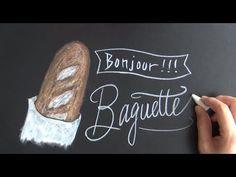レタリングとイラストを楽しむキットパスでチョークアート(フランスパン:バゲットchalkart)