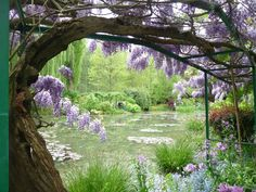 Monet's Garden, Giverny, France. With beautiful and lush vegetation as well as a diverse array of flora, this is the perfect destination in Spring. It is only an hours and a half away from Paris, France.