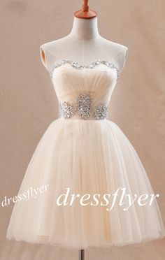 Beads Sweetheart Short Prom Dress