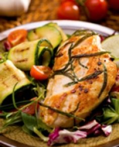 Rosemary Chicken Dijon Recipe : Serve this healthy, low fat chicken entree. This quick and easy, baked chicken recipe is heart healthy. Pound the breasts flat before baking to speed up cooking time.