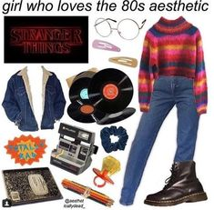 fashion stranger things 14 Oddly Niche Starter Packs That Might Creep You Out With Their Accuracy 14 Oddly Niche Starter Packs That Might Creep You Out With Their Accuracy Vintage Outfits, Retro Outfits, Aesthetic Fashion, Aesthetic Clothes, 80s Inspired Outfits, Character Inspired Outfits, Disney Inspired, Mode Cool, Stranger Things