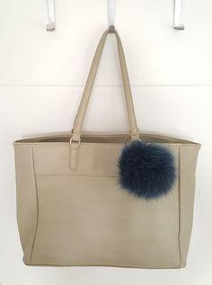 Blue Fluffy real Fox Fur Pom Pom, very easy to attach onto purses, bags or even… Pom Pom Purse, Fur Pom Pom, Pom Poms, Fur Bag, Blue Purse, Winter Accessories, Fox Fur, Charmed, Purses