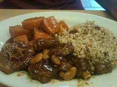 oxtail and rice and peas