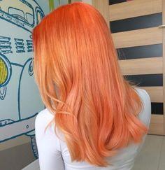 Neon Peach Hair Color (Clean Vibrant Peach) - All For New Hairstyles Peach Hair Colors, Hair Dye Colors, Pastel Orange Hair, Orange Hair Dye, Lime Crime Hair Dye, Hair Inspo, Hair Inspiration, Curly Hair Styles, Natural Hair Styles