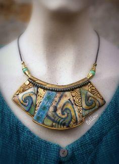Plastron antique inspiration égyptienne : Collier par bellou