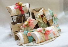craft, gift wrap, pillow box ideas, packag, boxes, card, pillowbox, pillows