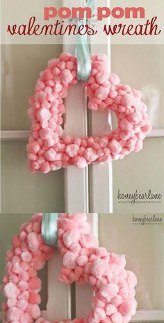 Pom Pom Valentine's Wreath