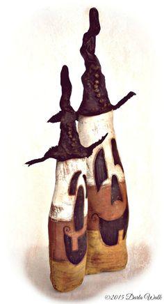 "Primitive Candy Corn Pumpkin shelf sitters ""Kandy & Korn"" Amazing by DarkForestFolkarts on Etsy Halloween Sewing, Halloween Doll, Halloween Patterns, Halloween Candy, Vintage Halloween, Fall Halloween, Halloween Crafts, Halloween Decorations, Halloween Raven"