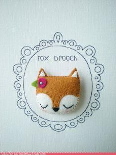 Sweet Fox brooch. Prendedor de felpa: zorrito