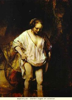 Rembrandt. Hendrickje Bathing in a River. Olga's Gallery.