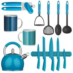 blue and green kitchen accessories new house designs